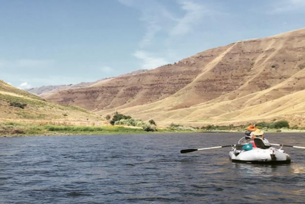 Boat on the Grande Ronde River in Eastern Washington