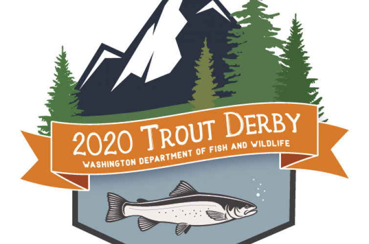 Trout derby logo