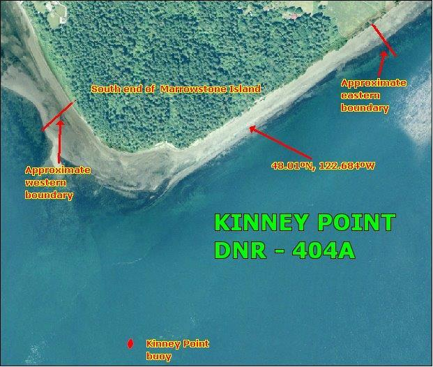 Map of DNR-404A, Kinney point