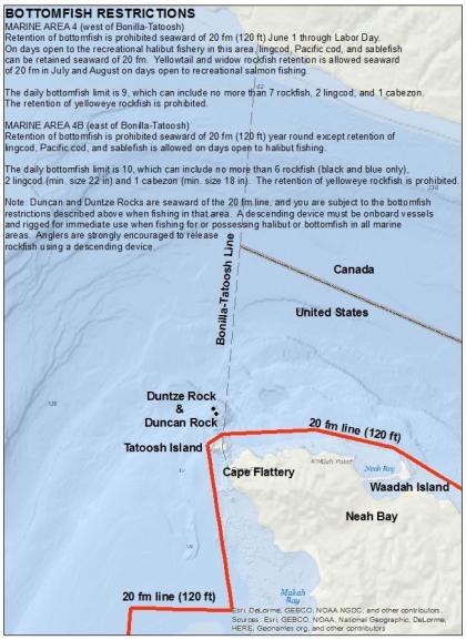 North coast halibut and bottomfish seasons and regulations