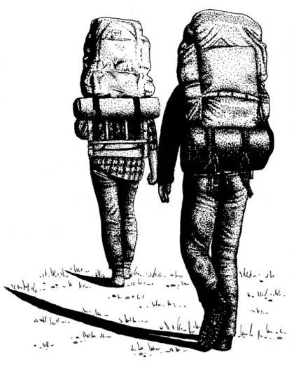 When backpacking, be sure to travel in pairs or groups.