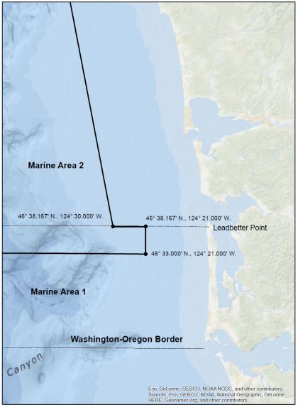 Columbia River deepwater closure map