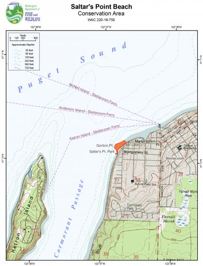 Map of the Saltar's Point Beach Conservation Area