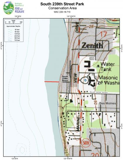 Map of the South 239th Street Park Conservation Area