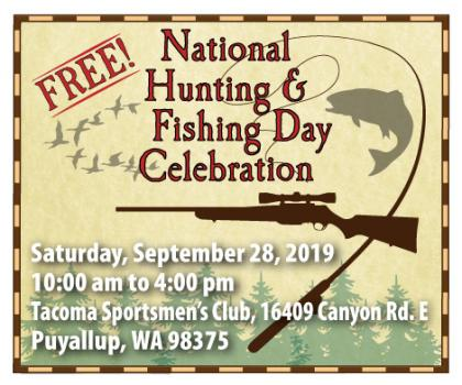 National hunting and fishing day advertisement