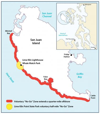 Map of no-go zone to protect orcas