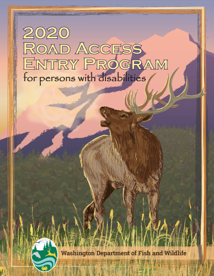 2020 Road Access Entry Program Pamphlet Cover showing an illustrated Elk bugling