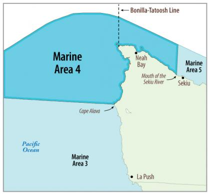 Map of Marine Area 4