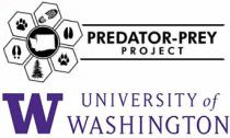 Predator-Prey Project logo on top of the University of Washington logo