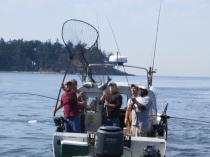 Fishing charter near Deception Pass in 2012